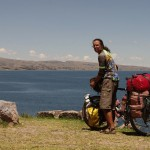 Cycling along the Lago Titicaca