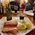 Salmon and Kunstman Bock beer - delicios!